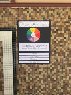 Make a big spinning wheel for table School Campaign Posters, Student Council Campaign, Student Council Posters, Student Gov, Student Body President, Vice President, Campaign Signs, Campaign Ideas, Homecoming Posters