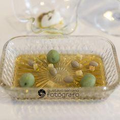 Aceitunas y sus huesos del menú degustación 2014 de @Quique Dacosta, TOMORROWLAND