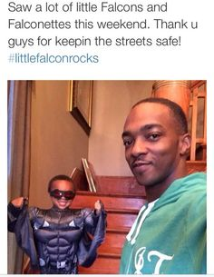 Anthony Mackie, thrilled to see all of the Falcon costumes this Halloween