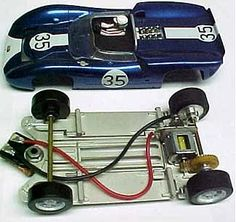 Slot cars built by Russell Sheldon
