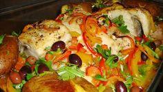 4 receitas de bacalhau assado no forno de comer e chorar por mais | ncultura Cod, Fish, Chicken, Meat, Cooking, Recipes, Portugal, Baked Cod Recipes, Oven Baked Cod