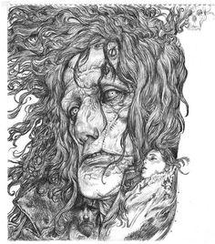 Art by Katsuya Terada* Blog/Website   (www.cacazan.com/) #drawing #illustration #pencil
