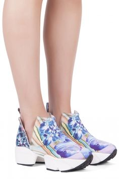 Jeffrey Campbell Shoes OLEARY New Arrivals in Bright Multi Floral Print