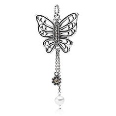 0ff0108bc Love takes flight, champagne-colored cz, white pearl & pyrite - - Necklaces  and pendants