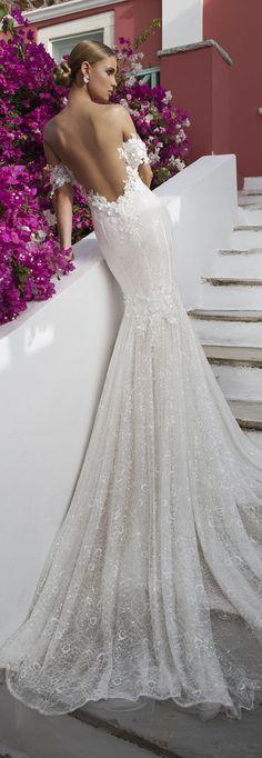 Off-the-shoulder Wedding Dress by Julie Vino - Santorini Collection 2016