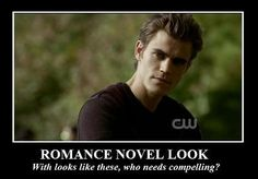 TVD. Stefan's romance novel look. The Vampire Diaries. Paul Wesley as sexy Stefan Salvatore.