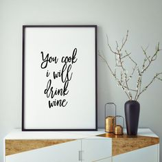 PRINTABLE ART But First WineCheers SignBar Wall by ParisStore