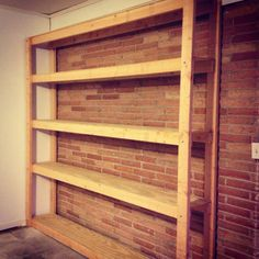 This would make an awesome way to store homemade soap inventory.  I would make the shelves closer together though, not so tall, and add a lot more shelves.  Seems easy enough to do and way cheaper than buying something like that online, not that I can find one for sale!