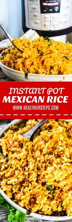 Instant Pot Mexican Rice #vegan #glutenfreerecipes