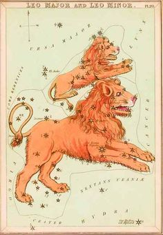 Samuel Leigh's map of the Zodiac constellation Leo. See more at www.pps-west.com/leigh.html