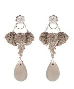 Elephant Jewelry, Elephant Earrings, Animal Jewelry, Modern Jewelry, Jewelry Art, Fine Jewelry, 18k Gold Earrings, Dangle Earrings, Jewellery Earrings