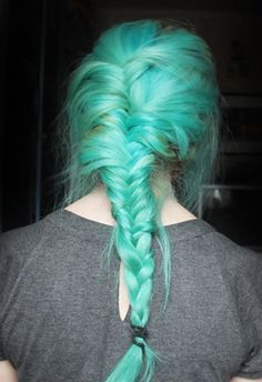 #turquoisehair #bluehair #greenhair #grunge #softgrunge #rock #goth #vintage #hipster #90s