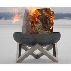 Grill und Feuerkorb mit Bodenplatte Terrassengrill Feuerschale Balkon Grillrost