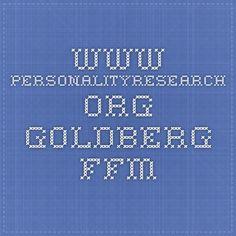 www.personalityresearch.org - Goldberg FFM