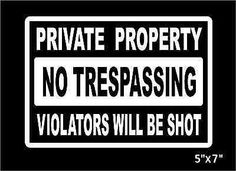 Private-Property-No-Trespassing-Decal-security-car-house-window-sticker-graphic