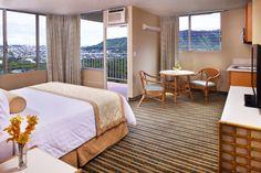 Queen Kapiolani Hotel's Junior Suite... Home Suite Home. #Hawaii #Waikiki #AquaHotels