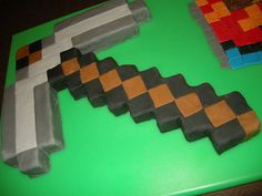 Minecraft Birthday Cake | Minecraft Pickaxe Birthday Cake | Flickr - Photo Sharing!