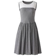 Robe sans manches Brigitte Bardot, Glamour, Gingham, Dresses For Work, Stripes, Plaid, Collection, Retro, Initials