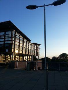 sunset at University of Essex