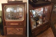 ... past post of another Vintage TV Turned Dry Bar from a few years back
