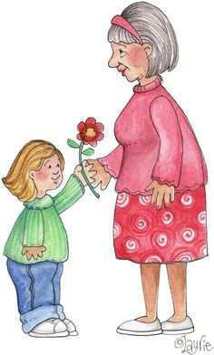 """""""A Flower for you, Grammy"""" <3"""