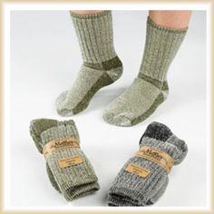 Killington Mountain Hiker Socks, Organic Wool