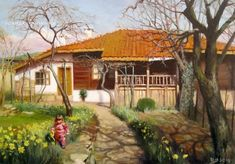 Cabin, House Styles, Painting, Home Decor, Decoration Home, Room Decor, Cabins, Painting Art, Paintings