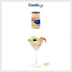 Cocktail de gamas con salsa rosa - #MarcaCondis byCondislife