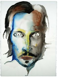 Vincent Gallo by Marilyn Manson | Watercolor