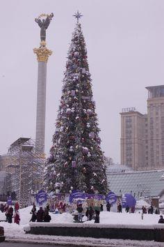 Ukraine Christmas Traditions: Christmas Tree in Kiev