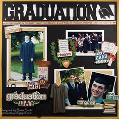 Graduation **Want2Scrap**Paper House** - Scrapbook.com - Made with Paper House and Want 2 Scrap products.