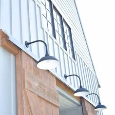 #barnhouse metal wood barn lights via instagram: growing_cloverfield_farm