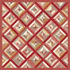 Madame Rouge Quilt patroon door de Franse generaal voor Moda stoffen klaar…