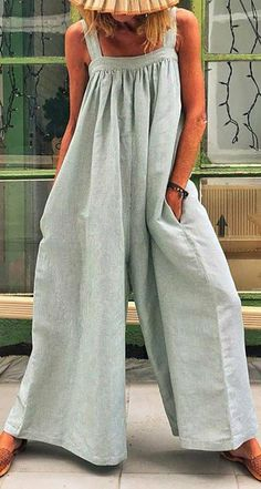 Casual Solid Sleeveless Spaghetti Jumpsuit Wide Leg Pants Product Casual Solid Sleeveless Spaghettie Jumpsuit Wide Leg Pants Brand Name juatredcoco SKU Gender Women Item Type Jumpsuit Pattern Type Solid Style Casual Occasion Beach,Holiday,D Jumpsuit Outfit, Casual Jumpsuit, Summer Jumpsuit, Striped Jumpsuit, Overalls Outfit, Lace Jumpsuit, Summer Romper, Jeans Jumpsuit, Casual Pants