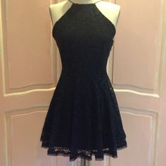 """❤️  NWT Urban Outfitters Kimchi Blue Black lace Brand new UO Kimchi Blue brand Black lace dress.  This dress does have elastic at the waist on the back of the dress only. It also has a side zipper.   Waist is 30"""".   Armpit to armpit is 18"""".  Length from collar to hem is 30"""" Kimchi Blue Dresses Prom"""