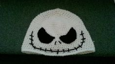 Crochet Hat - Jack - Nightmare before Christmas