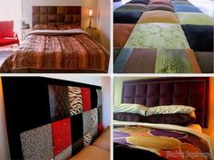 Upholster indivicual square boards to make a gorgeous and SIMPLE headboard! {Reality Daydream}