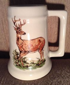 Buck Deer Large Mug Stein Signed Walter J. Seibold Pa. Hunting Dad Heavy | Collectibles, Souvenirs & Travel Memorabilia, United States | eBay!