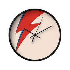 David Bowie Wall Clock Red and Blue Ray Music by LaChicHomeDecor