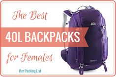 At Her Packing List, we think travel backpacks just might be the best size women's backpack out there. See why, how much they carry, and how to pick one. Best Travel Backpack, Hiking Backpack, Travel Bags, Travel Stuff, Travel Luggage, Her Packing List, Packing List For Travel, Shopping Travel, Travelling Tips