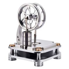 Low Temperature Stirling Engine Stainless Steel Engine Model Toy for Developing IntelligenceThe low temperature Stirling engine is designed with a special double flywheel, the space of the Stirling engine model is square. Place the Stirling . Model Engine Kits, Mini Steam Engine, Stirling Engine, Work Friends, Easy Science, Model Airplanes, Models, Metal Crafts, Engineering