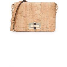 Diane von Furstenberg 440 Gallery Bellini Cross Body Bag ($200) ❤ liked on Polyvore featuring bags, handbags, shoulder bags, crossbody shoulder bags, metallic crossbody, cork handbags, white crossbody purse and cork purse