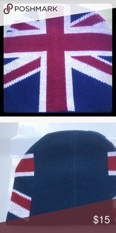 Union Jack thick Beanie UK from Disney World From Epcot's United Kingdom. Authentic Disney Merchandise. NWT Disney Accessories Hats