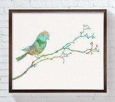 Bird Watercolor Bird Art Print Bird Painting by MiaoMiaoDesign