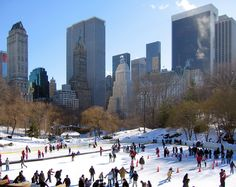 Skating in Central Park part of the Christmas time in the City Nail Polish Collection available in November