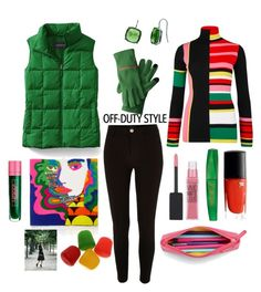 """Bright & Bold"" by deniselug ❤ liked on Polyvore featuring Lands' End, River Island, Kenzo, Olympia Le-Tan, Maybelline, Lancôme, Rimmel, Lipstick Queen and Lauren Ralph Lauren"