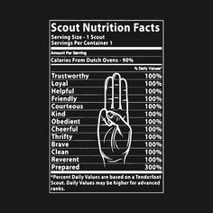 cfd5a955 Check out this awesome 'Boy+Scout+Nutrition+Label+Funny+T-Shirt' design on