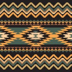 Ethnic ornamental textile seamless geometric pattern