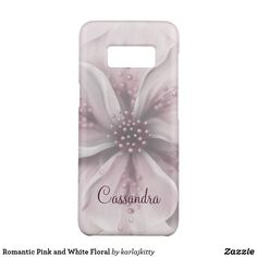 Romantic Pink and White Floral Case-Mate Samsung Galaxy Case Galaxy S8, Samsung Galaxy, Electronics Accessories, Pink And White Flowers, Semi Transparent, Custom Design, Burgundy, Romantic, Floral