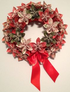 Holiday Cheer....Origami/Kusudama Christmas by kreationsbykia